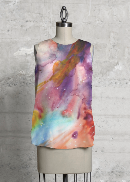 New sleeveless top with Harmonic Cosmos print.